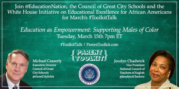 #ToolKitTalk: Education as Empowerment--Supporting Males of Color