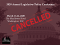Annual Legislative/Policy Conference Cancelled